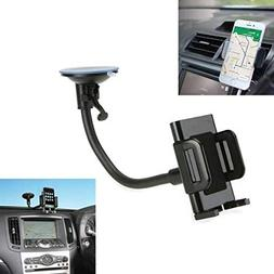 2-in-1 Car Mount Windshield Dash AC Air Vent Phone Holder Ro