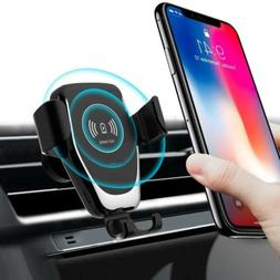 10W Qi Wireless Car Charger Phone Holder Bracket For iPhone