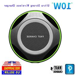 10W Ultra Strong Qi Fast Wireless Charger Pad for iPhone 11