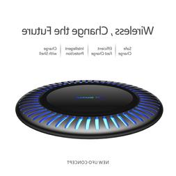 15W Fast Qi Wireless Charger Charging Dock Pad Mat For Samsu