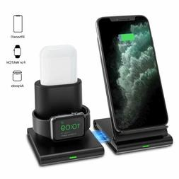 Seneo 3 in 1 Wireless Fast Charging Station Dock Holder For