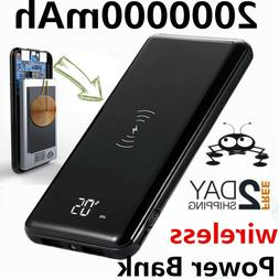 2020 Power Bank 2000000mAh Wireless Charger Portable Polymer