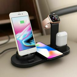 3 in 1 Wireless Charging Station Dock Charger Stand Apple Wa