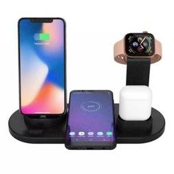 4 in 1 Wireless Charging Station Dock Charger Stand Apple Wa