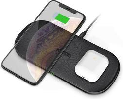 CHOETECH 5 Coils Dual Fast Wireless Charger Qi Charging Pad
