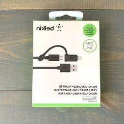 Belkin 3-Feet Micro-USB Cable with Lightning Connector Adapt