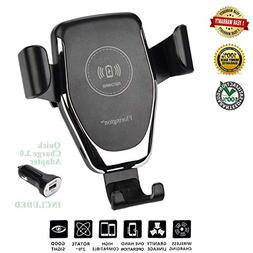 Fast Qi Wireless Car Charger, Air Vent Dashboard Mount, Mobi
