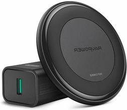 Fast Wireless Charger RAVPower Qi-Certified 7.5W Compatible