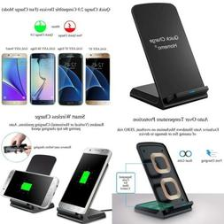 Fast Wireless Charger Stand Pad for iPhone Black