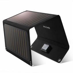 RAVPower Foldable Travel 21W Solar Panel Charger  w/ Dual US