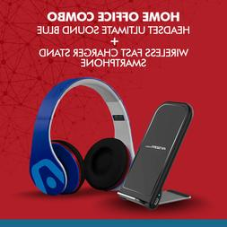 Home Office Combo Headset Ultimate sound Blue + Wireless Fas