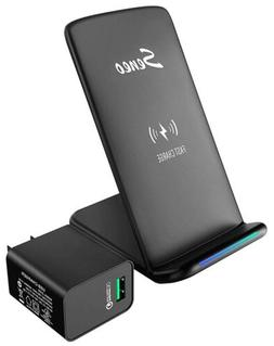Wireless Charger, Seneo Qi Certified 10W Fast Wireless Charg