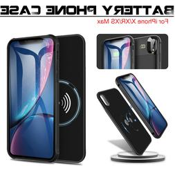 For iPhone X/XR/XS Max Qi Wireless Battery Case Charger Char