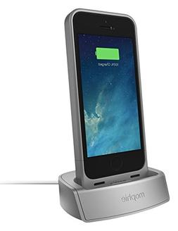 mophie 2305 Juice Pack Dock for iPhone 5/5s/SE - Silver