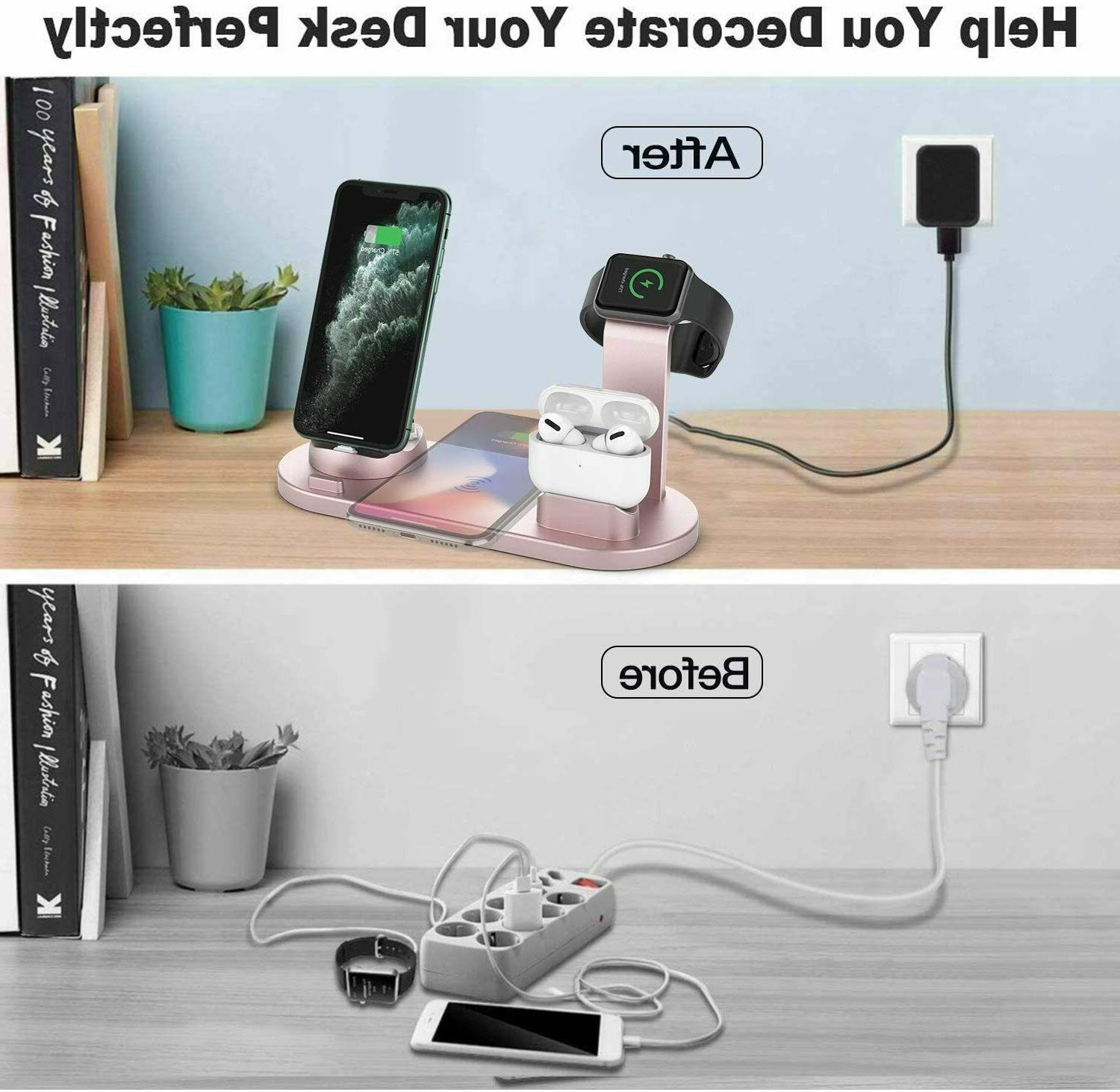3 Charger Charging Station Apple Pods iPhone