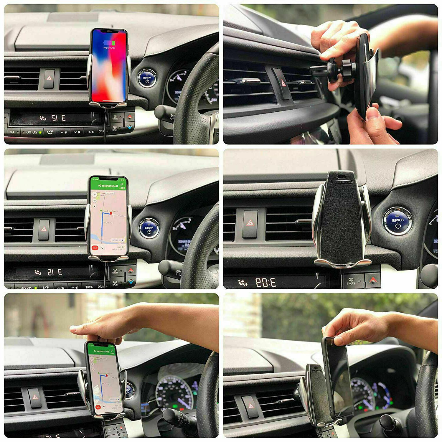 360° Sensor Car Phone Holder and Charger 1
