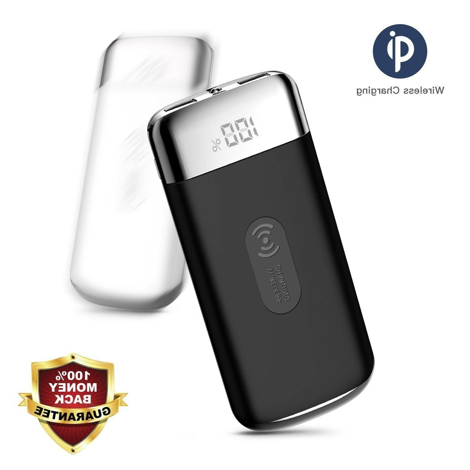 NEW Qi Wireless Charging USB Portable Battery Charger