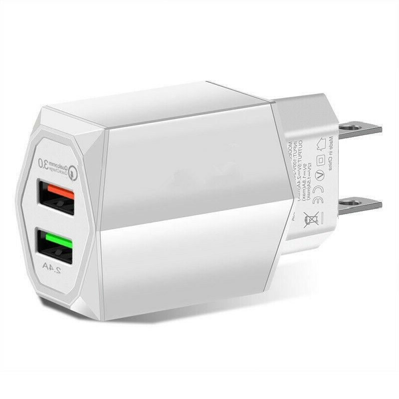 USB Fast Quick Charge Wall Charger Galaxy S10 9 iPhone