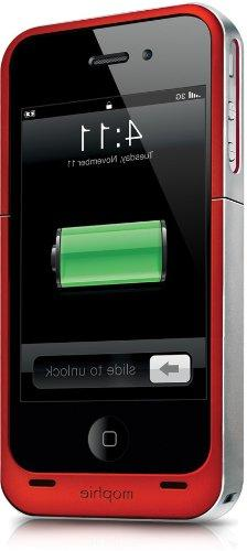 Mophie Juice Pack Air Case for iPhone 4 / 4S - Red