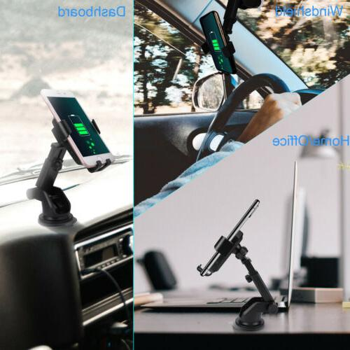 Qi Auto Charger Fast Mount Clamping Holder