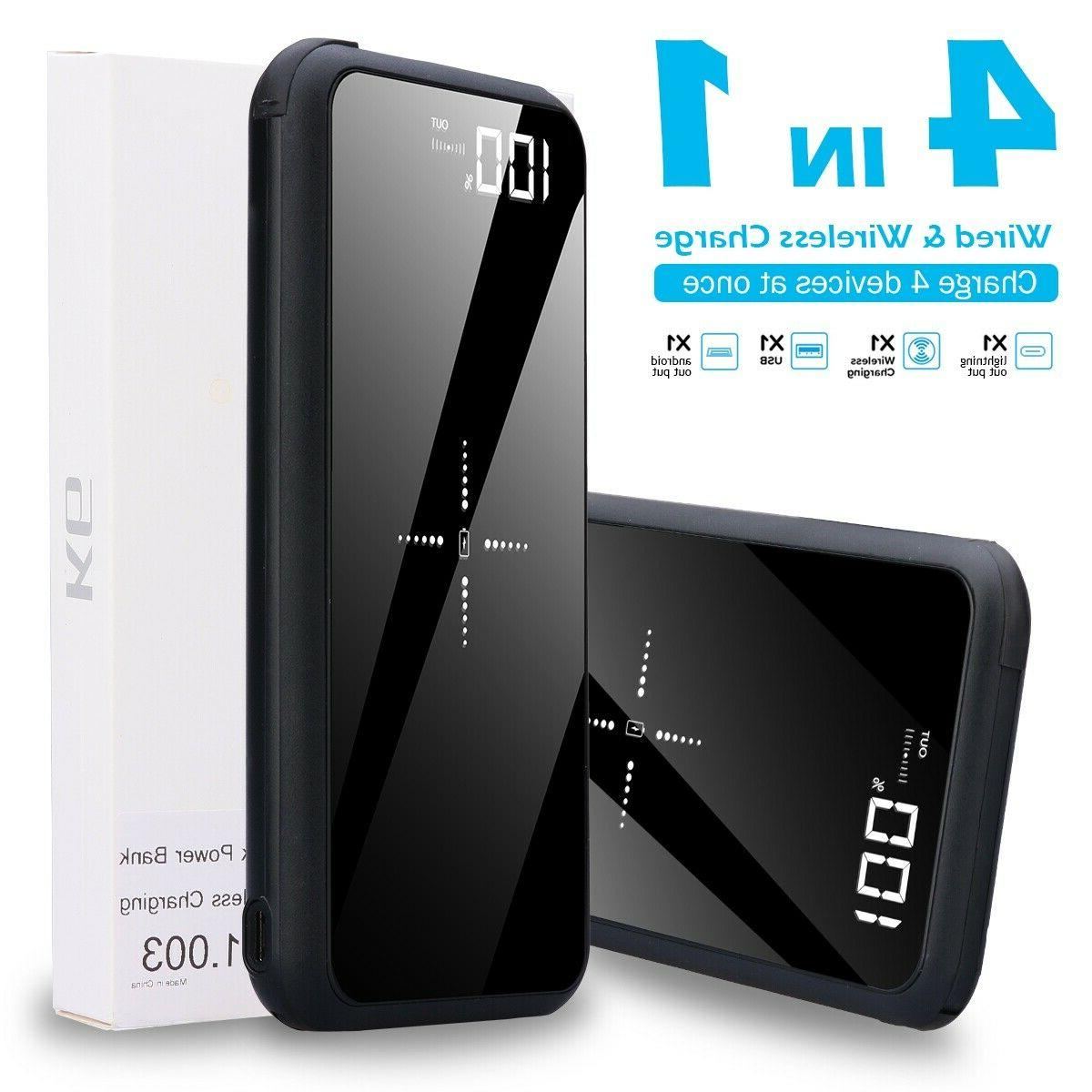thin lightweight portable qi charger compact external