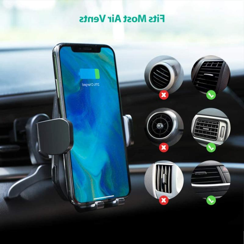 Wireless Qi Fast Charger 7.5W/10W Car Automatic Phone Vent