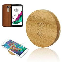 LG G4 Qi Wireless Charger, Wooden Wireless Charger Charging