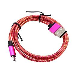 TONSEE 1M/3ft Micro USB A to USB 2.0 B Braided Fast Data Syn
