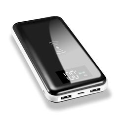 NEW 2000000mAh Power Bank Qi Wireless Charging 2 USB Portabl