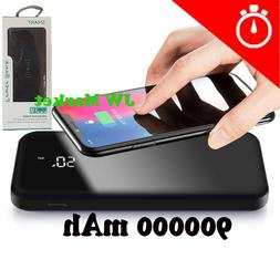Power Bank 900000mAh Qi Wireless External Battery Charger Po