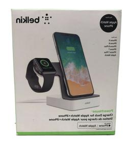 Belkin Powerhouse charging dock for apple watch and iphone.