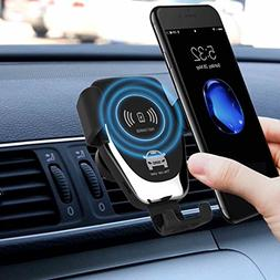 Sysmarts Qi Wireless Car Charger, Windshield/Air Vent 2-in-1