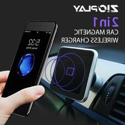 Qi Wireless Car Magnetic Wireless Charger Stand 3 Colors