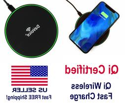 Qi Wireless Charger 10W Fast Charging Mat Pad For iPhone 11