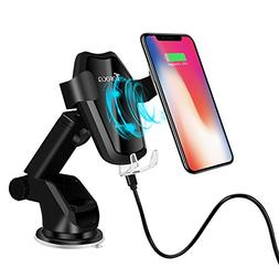 TOFOCO Qi Wireless Charger Car Mount w/Automatic Gravity Ope