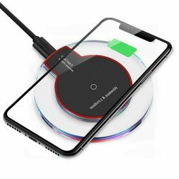 Qi Wireless Charger Charging Pad for Galaxy S20/S20+/Ultra/i