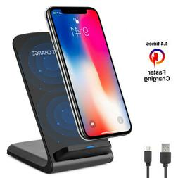 Qi Wireless Fast Charger Charging Pad Stand Dock Galaxy S8 S