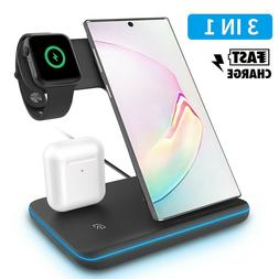Qi Wireless Fast Charger Dock Stand For Samsung Galaxy Note