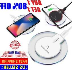 Qi Wireless Phone Charger Pad for iPhone 11 Pro X XS XR Sams