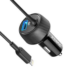 Anker Ultra-Compact 24W 2-Port Car Charger, PowerDrive 2 Eli