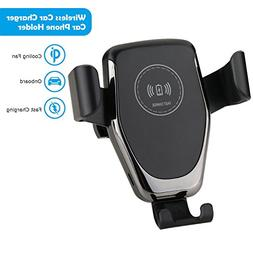 Wireless Car Charger, Goltron Qi Fast Charging Car Mount Adj