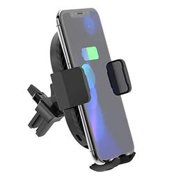 Wireless car charger with air vent phone holder, Qi Fast Cha