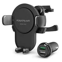 Wireless Car Charger, RAVPower Wireless Charging Car Mount,