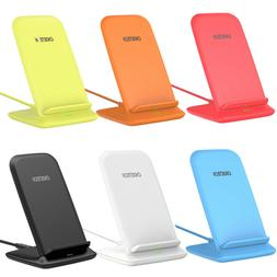 CHOETECH Wireless Charger 10W Qi Fast Charging Stand Dock fo
