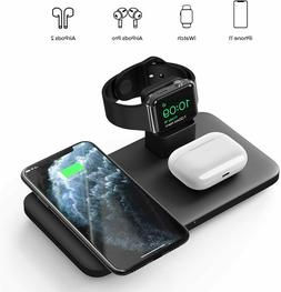 Seneo Wireless Charger, 3 in 1 Wireless Charging Station for