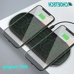 CHOETECH Wireless Charger Dual Pad Fast QI Wireless Charging