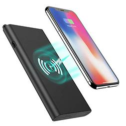 Wireless Charger Power Bank, Tech Care 10000mAh 3 in 1 Fast