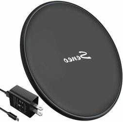 Seneo Wireless Charger Qi Fast Wireless Charging Pad w/2A US