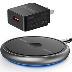 Wireless Charger with QC3.0 Adapter, Sinopuren Wireless Char